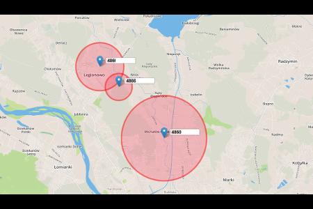slr zarządzanie zleceniami mapa lokalizacji
