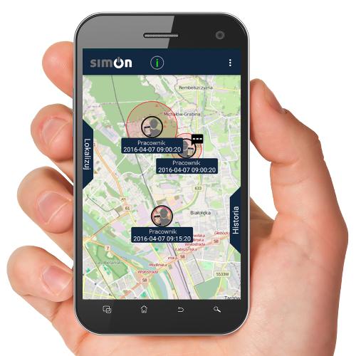 simOn aplikacja mobilna app hand