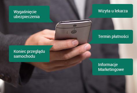różne możliwości powiadomień SMS